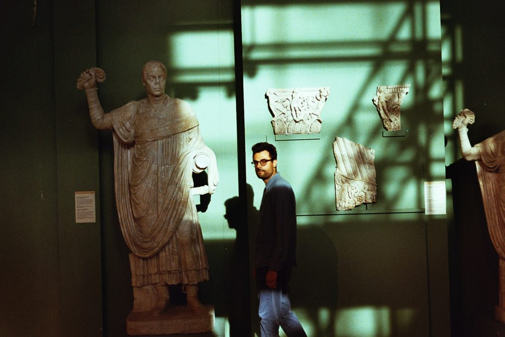 Poet Gabriele Tinti at the Centrale Montemartini