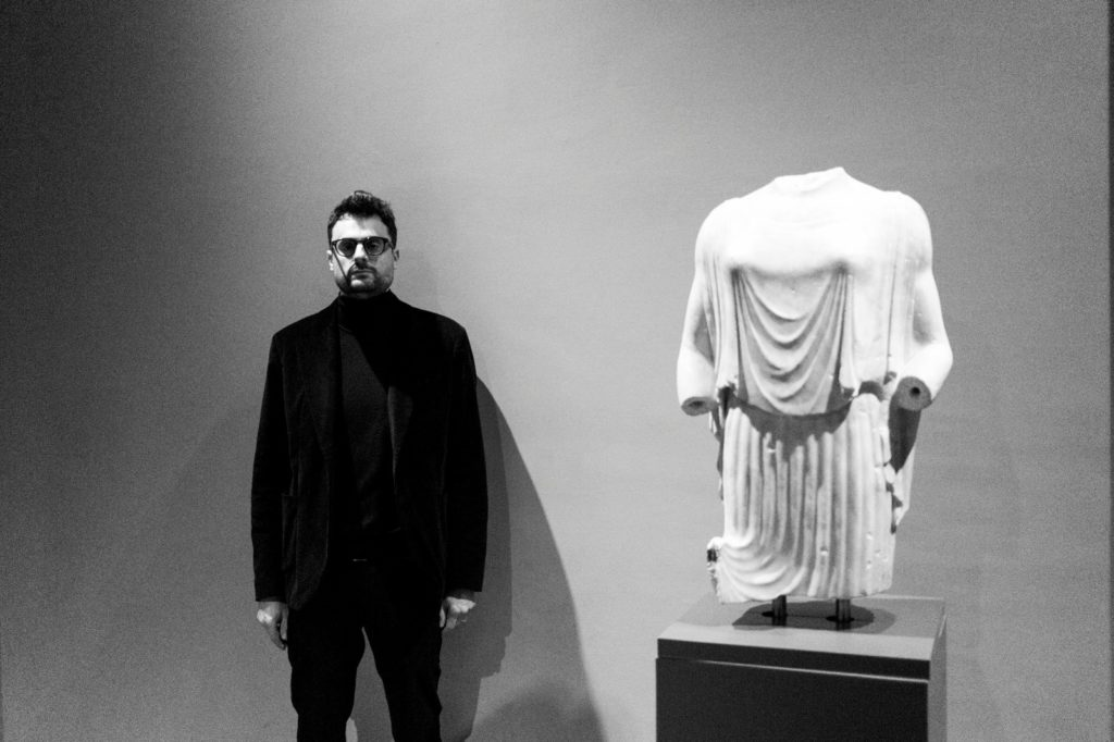 Gabriele Tinti at the National Roman Museum, 2020